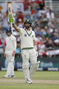 Pieter Malan celebrates after scoring a half-century, South Africa v England, 2nd Test, Cape Town, 4th day, January 6, 2020