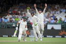 England appeal successfully for the wicket of Dean Elgar, South Africa v England, 2nd Test, Cape Town, 4th day, January 6, 2020