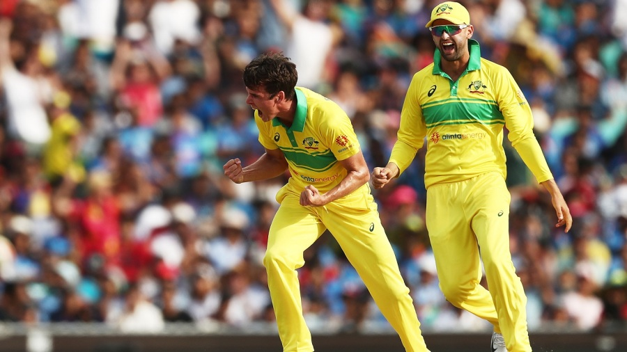Jhye ho: Richardson reduced India to 3 for 4 after taking the wickets of Kohli and Rayudu