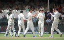 James Anderson receives the plaudits for a wicket, South Africa v England, 2nd Test, Cape Town, 5th day, January 7, 2020