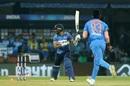 Dasun Shanaka is bowled by Jasprit Bumrah, India v Sri Lanka, 2nd T20I, Indore, January 7, 2020
