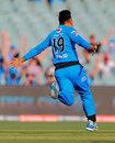 Rashid Khan celebrates his hat-trick, Adelaide Strikers v Sydney Sixers, Big Bash, Adelaide, January 8, 2019