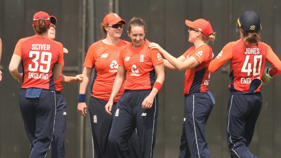 In Guwahati, India needed three runs off the final over, bowled by Kate Cross, but could only manage one