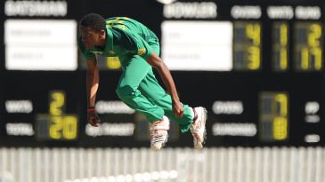 Solo Nqweni in action at the 2012 ICC U19 World Cup