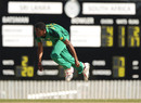 Solo Nqweni in action at the 2012 ICC U19 World Cup, Brisbane, August 15, 2012