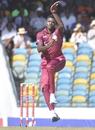 Alzarri Joseph jumps in his delivery stride, West Indies v Ireland, 1st ODI, Bridgetown, January 7, 2020
