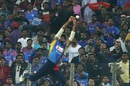 Dasun Shanka ran in too far but then made a valiant attempt to catch the ball, India v Sri Lanka, 3rd T20I, Pune, January 10, 2020
