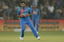 Shardul Thakur is pumped after getting a wicket, India v Sri Lanka, 3rd T20I, Pune, January 10, 2020