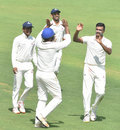 R Ashwin celebrates a wicket, Tamil Nadu v Mumbai, Ranji Trophy, Chennai, 1st day, January 11, 2020