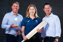 Shane Warne, Alex Blackwell and Ricky Ponting at the announcement of the bushfire relief match, Melbourne, January 12, 2020