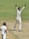 R Sai Kishore celebrates a wicket, Tamil Nadu v Mumbai, Ranji Trophy 2019-20, Chennai, January 12, 2020