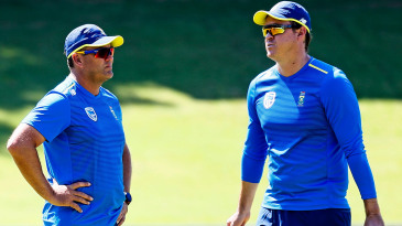 Jacques Kallis and Paul Harris at South Africa training