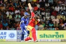 R Sanjay Yadav drills one away in the TNPL