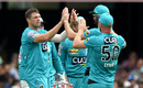 James Pattinson celebrates a wicket, Brisbane Heat v Adelaide Strikers, BBL 09, Brisbane, January 14, 2020