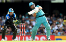 AB de Villiers thumps a boundary over cover, Brisbane Heat v Adelaide Strikers, BBL 09, Brisbane, January 14, 2020