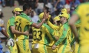 Mitchell Starc celebrates a wicket, India v Australia, 1st ODI, Mumbai, January 14, 2020