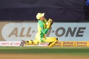 Alex Carey clings on to a swirling catch, India v Australia, 1st ODI, Mumbai, January 14, 2020