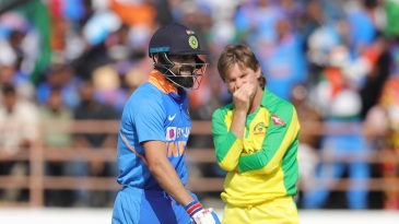 Virat Kohli and Adam Zampa share a light moment