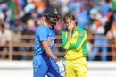 Virat Kohli and Adam Zampa share a light moment, India v Australia, 2nd ODI, Rajkot, January 17, 2020