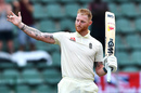 Ben Stokes celebrates his hundred with a gesture to his father, South Africa v England, 3rd Test, Port Elizabeth, 2nd day, January 17, 2020