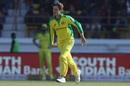 Adam Zampa at the top of his mark, India v Australia, 2nd ODI, Rajkot, January 17, 2020