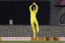 Ashton Agar produces a moment of magic at long-off, India v Australia, 2nd ODI, Rajkot, January 17, 2020