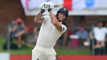 Ben Stokes launches one over the leg side