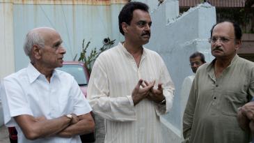 Bapu Nadkarni with fellow Mumbai and India stalwarts Dilip Vengsarkar and Ajit Wadekar