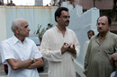 Bapu Nadkarni with fellow Mumbai and India stalwarts Dilip Vengsarkar and Ajit Wadekar, Mumbai, August 2, 2008