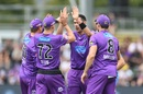 Scott Boland picked up a couple of early wickets, Hobart Hurricanes v Adelaide Strikers, BBL 2019-20, Launceston, January 19, 2020
