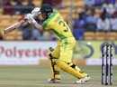 David Warner nibbles at one outside off, India v Australia, 3rd ODI, Bengaluru, January 19, 2020
