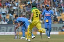 Aaron Finch is run out by Mohammed Shami, India v Australia, 3rd ODI, Bengaluru, January 19, 2020