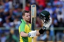 Steven Smith celebrates his hundred, India v Australia, 3rd ODI, Bengaluru, January 19, 2020