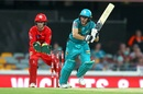 Sam Heazlett top-scored for the Heat with a 37-ball 56, Brisbane Heat v Melbourne Renegades, Big Bash League 2019-20, Brisbane, January 19, 2020