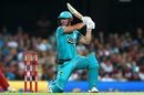 Chris Lynn smashed five fours and three sixes in a 15-ball 41, Brisbane Heat v Melbourne Renegades, Big Bash League 2019-20, Brisbane, January 19, 2020
