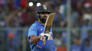 Rohit Sharma soaks up the applause on bringing up his century