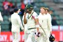 Faf du Plessis trudges off after his dismissal, South Africa v England, 3rd Test, Port Elizabeth, 4th day, January 19, 2020