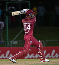 Lendl Simmons carts one down the ground, West Indies v Ireland, 3rd T20I, St Kitts, January 19, 2020