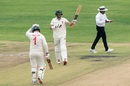 Craig Ervine celebrates a landmark, Zimbabwe v Sri Lanka, 1st Test, Harare, 1st day, January 19, 2020