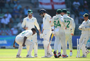Kagiso Rabada roars in celebration after bowling Joe Root, South Africa v England, 3rd Test, Port Elizabeth, Day 1, January 16, 2020