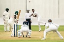 Lasith Embuldeniya tosses one up, Zimbabwe v Sri Lanka, 1st Test, Harare, 2nd day, January 20, 2020