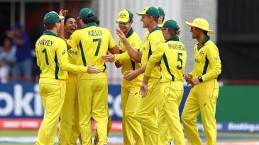 Tanveer Sangha is mobbed by his team-mates