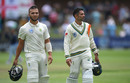 Dane Paterson and Keshav Maharaj leave the field together after their 99-run last-wicket stand, South Africa v England, 3rd Test, 5th day, Port Elizabeth, January 20, 2020