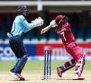Nyeem Young slams one over the off-side infield, England v West Indies, Under-19 World Cup 2020, Kimberley, January 20, 2020