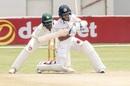 Kusal Mendis prepares to play a slog sweep, Zimbabwe v Sri Lanka, 1st Test, 3rd Day, Harare, January 21, 2020