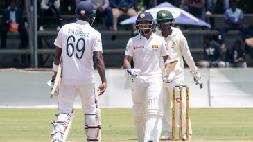 Kusal Mendis and Angelo Mathews forged a steady partnership