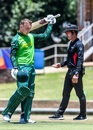 Bryce Parsons celebrates his century, South Africa v Canada, Under-19 World Cup 2020, Potchefstroom, January 22, 2020