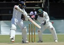 Niroshan Dickwella plays a cut, Zimbabwe v Sri Lanka, 1st Test, Harare, 4th day, January 22, 2020