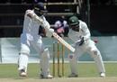 Niroshan Dickwella plays a cut, Zimbabwe v Sri Lanka, 1st Test, Harare, 4th day, January 22, 2020