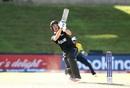 Kristian Clarke goes for a big hit, New Zealand v Sri Lanka, Under-19 World Cup, Bloemfontein, January 22, 2019